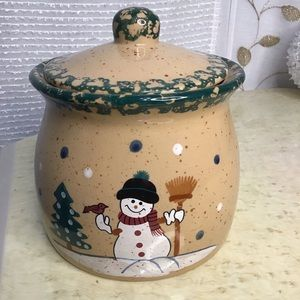 ABC Distributing Snowman Covered Jar with lid